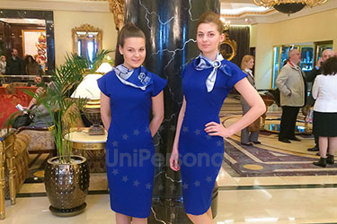 работа девушки на выставках москва